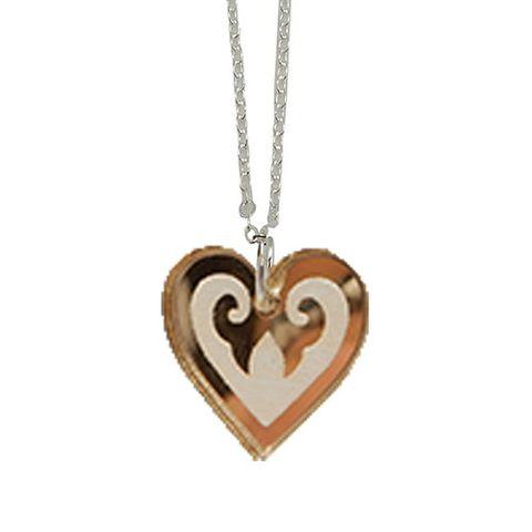 KOHA NECKLACE AROHA HEART GOLD (MEDIUM)^