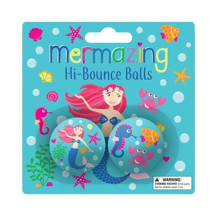 MERMAID BOUNCING BALL 35MM 2PC^