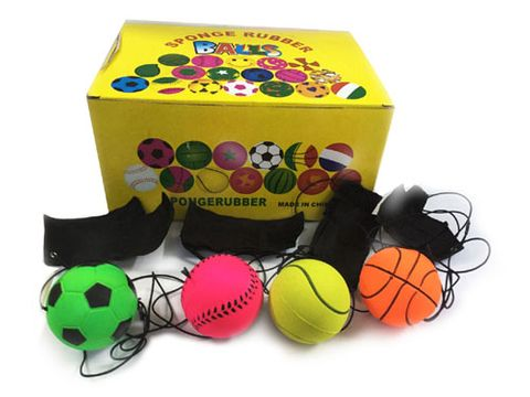 BALL RUBBER WITH WRIST BAND
