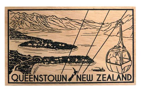 POSTCARD WOODEN QUEENSTOWN