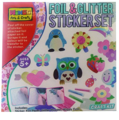 FOIL & GLITTER STICKER SET