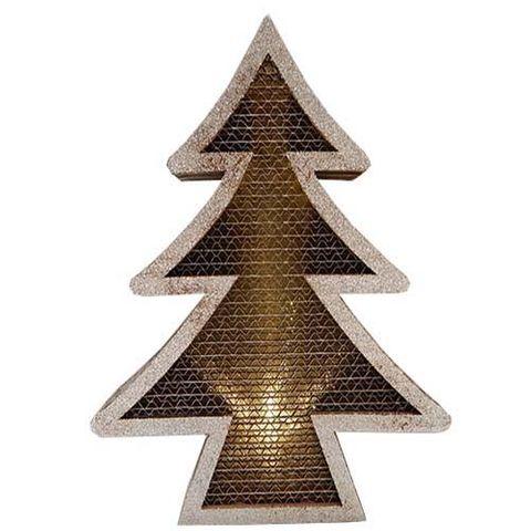XMAS DECO W LIGHTS TREE SMALL