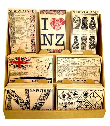 WOODEN POSTCARDS IN A DISPLAY BOX