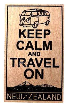 POSTCARD WOODEN KEEP CALM & TRAVEL ON