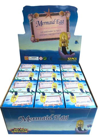 GROWING MERMAID IN EGG DISPLAY OF 12