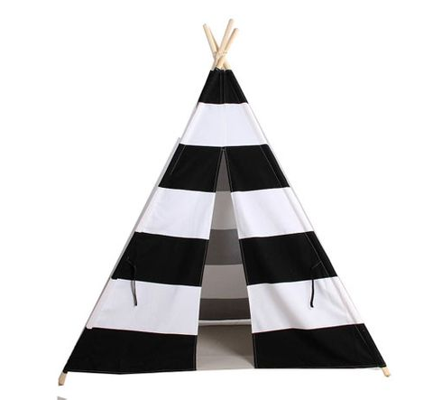 TEEPEE BLACK & WHITE STRIPES