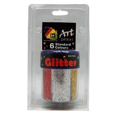 ART EXTRA GLITTER STD 6N1 SHAKER BLISTER