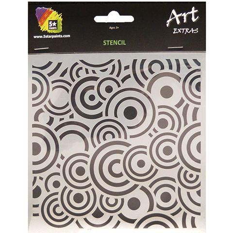 ART EXTRA STENCIL CIRCLES 15X15CM