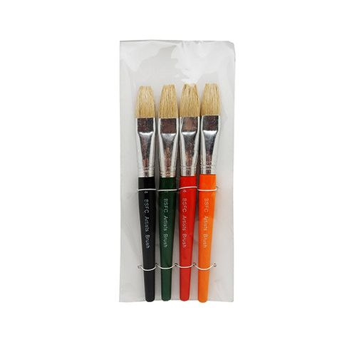 BRUSH STUBBIE FLAT COLOURED SET OF 4