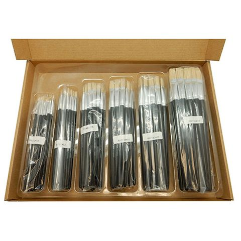 BRUSH CHINESE BRISTLE FLAT 577 CLASSROOM SET