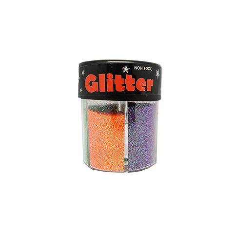 GLITTER POWDER 6IN1 SHAKER RAINBOW COLOU