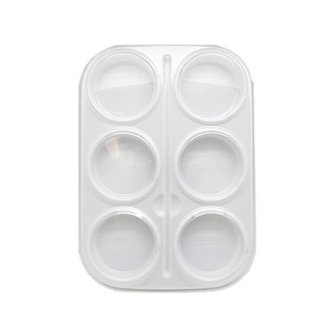 PAINT TRAY BASE WHITE 6 CUP