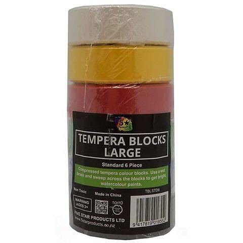TEMPERA BLOCK LARGE STD PACK OF 6