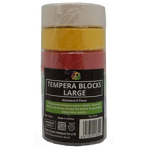 LARGE TEMPERA BLOCK STD PACK OF 6