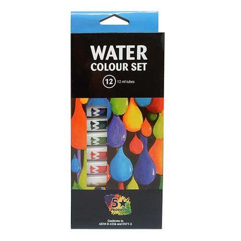 WATER COLOUR PAINTS - SET OF 12X12 ML