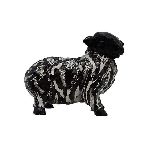 SHEEP ORNAMENT BLACK/WHITE