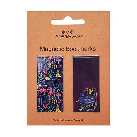 MAGNETIC BOOKMARK NZ KIWI & FAUNA 2 PC