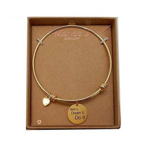 MJ BANGLE - WISH IT, DREAM IT, DO IT^