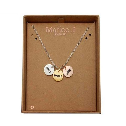 MJ NECKLACE - SMILE, SPARKLE, SHINE^
