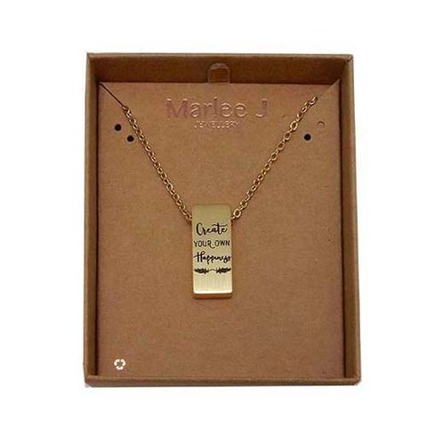 MJ NECKLACE - CREATE YOUR OWN HAPPINESS^