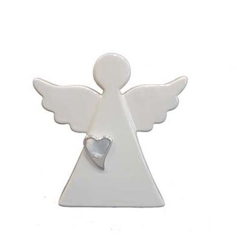 ANGEL - WHITE WITH SILVER HEART 158 MM