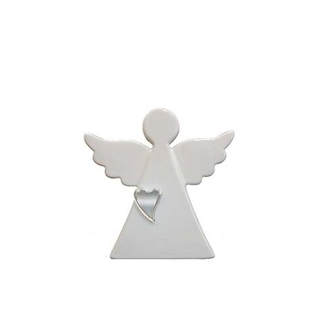ANGEL - WHITE WITH SILVER HEART 110 MM