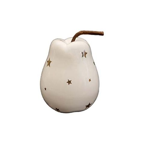 PEAR - WHITE WITH STARS 102 MM