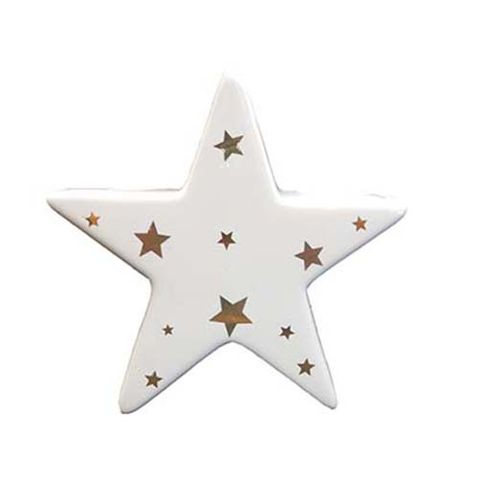 STAR - WHITE WITH STARS 100 MM