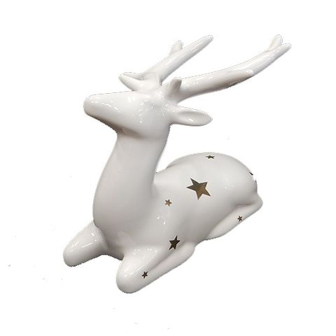 DEER SITTING - WHITE WITH STARS 97 MM