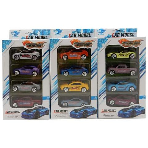 DIE-CAST (1:64) SUPER CARS ASSTD 4 PCS