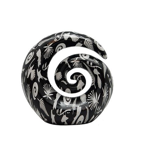 KORU ORNAMENT BLACK/WHITE