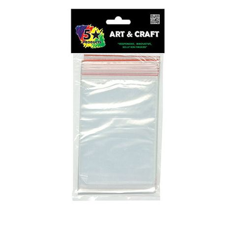CRAFT RESEALABLE BAGS 10X15 CM 40 PC^