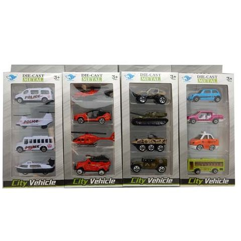 DIE-CAST (1:64) CITY VEHICLE ASSTD 4 PCS