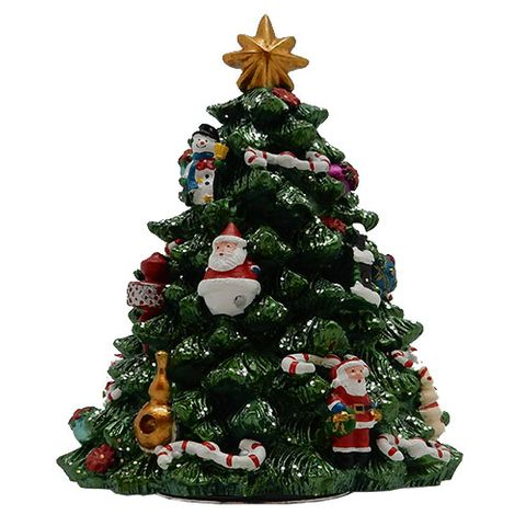 CHRISTMAS TREE MUSICAL REVOLVING 18CM