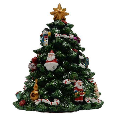 CHRISTMAS TREE MUSICAL REVOLVING 18CM