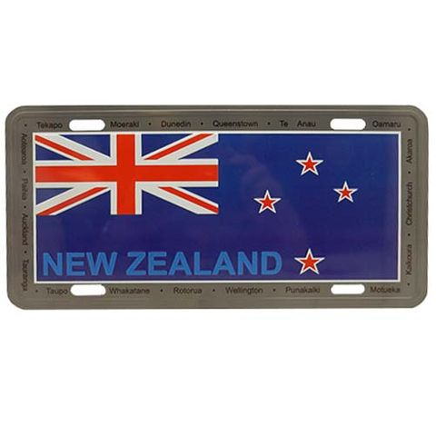 LICENCE PLATE LARGE - NZ FLAG