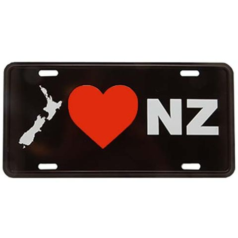 LICENCE PLATE LARGE - I LOVE NZ