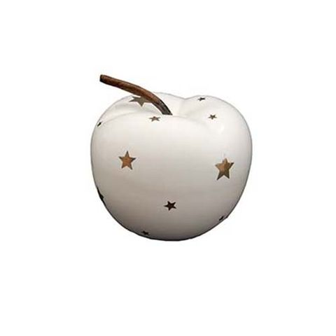 APPLE - WHITE WITH STARS 63 MM