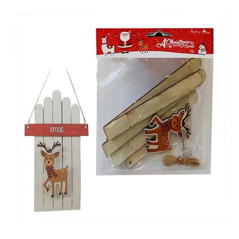 XMAS DIY KIT HANGING DOOR W DEER