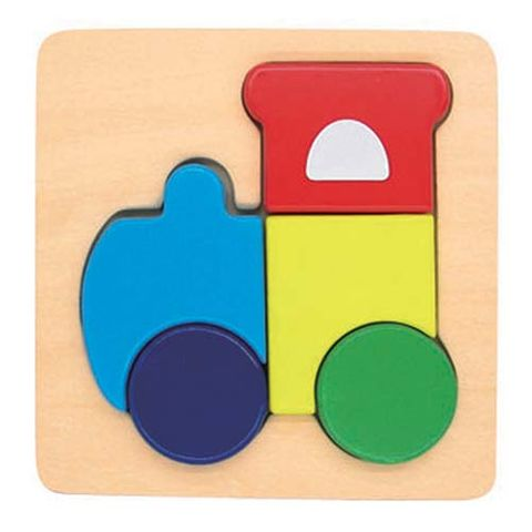 ELF WOODEN CHUNKY PUZZLE SMALL 5PCS TRAIN