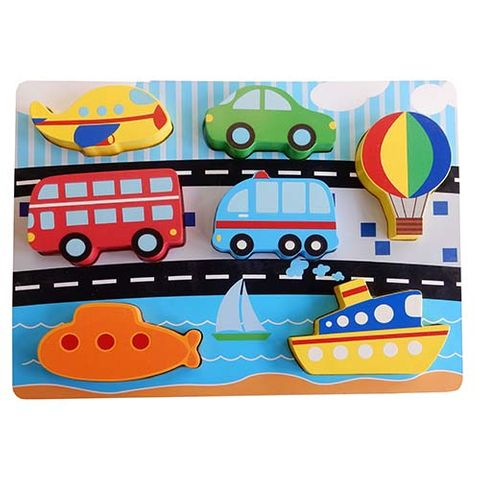 ELF WOODEN CHUNKY PUZZLE 7PCS TRANSPORT
