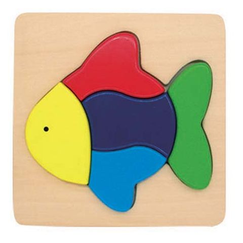 ELF WOODEN CHUNKY PUZZLE SMALL 5PCS FISH