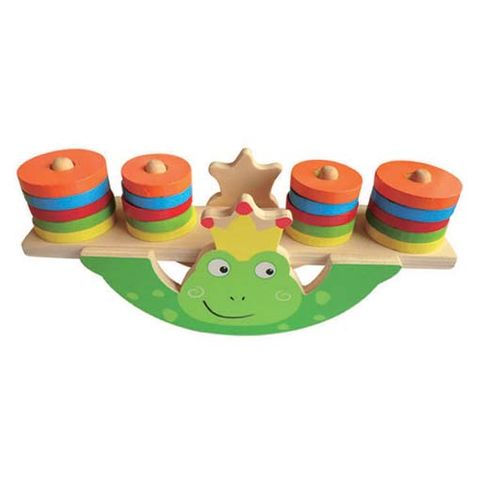 ELF WOODEN BALANCE GAME 20 PCS FROG