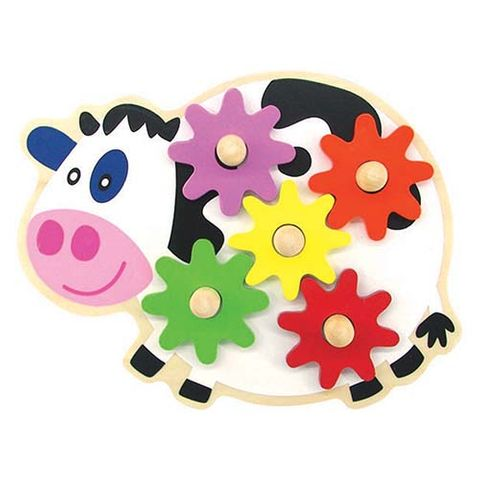 ELF WOODEN GEAR GAME COW