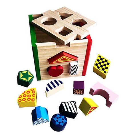 ELF WOODEN SHAPE SORTER CUBE 13 PCS