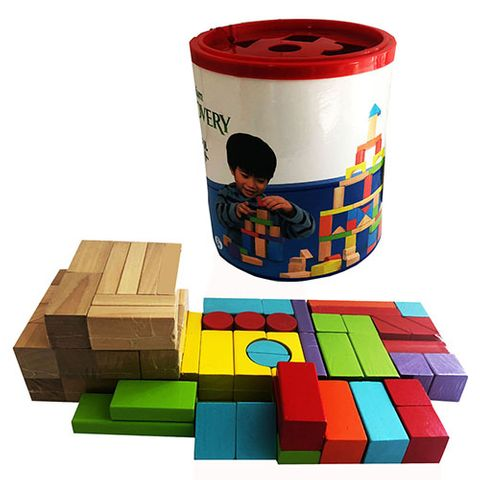 ELF WOODEN BLOCKS ASSTD 75 PCS