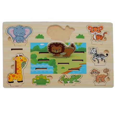 ELF WOODEN 3D STAND UP PUZZLE 8PCS SAFARI