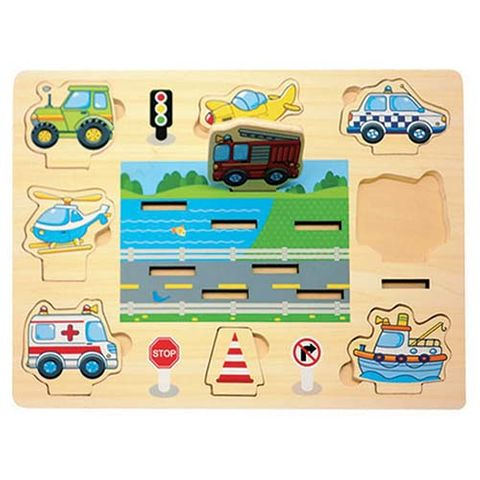 ELF WOODEN 3D STAND UP PUZZLE 8PCS TRANSPORT