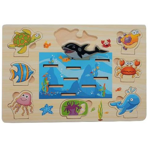 ELF WOODEN 3D STAND UP PUZZLE 8PCS SEA