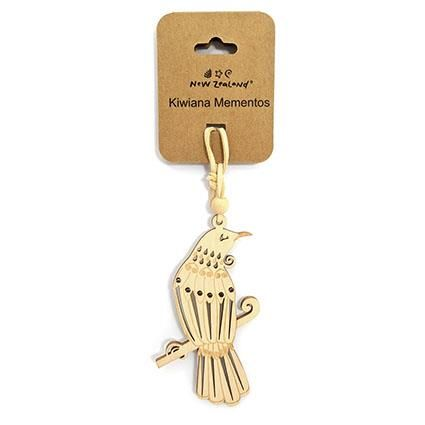 NZ HANGING ORNAMENT TUI 10CM